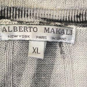Alberto Makali Sweaters - Alberto Makali Tie Dye Open Cardigan Linen XL